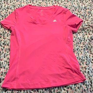 Pink Adidas V-Neck
